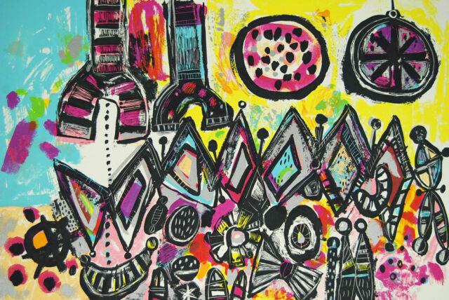 Robert Bennett Red Shift, White Dwarfs 1979 Pencil Signed Original Lithograph