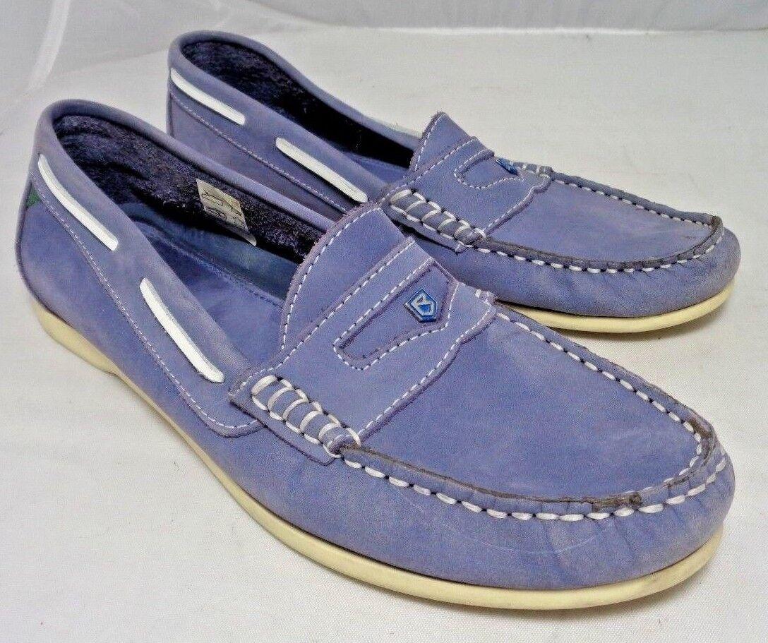 Dubarry de Irlanda Azul-gris Cuero Zapatos De Lujo Mocasín de de de Cubierta para mujeres tamaño 39 8.5  encuentra tu favorito aquí