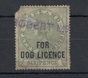Ireland-QV-Revenue-Dog-Licence-Stamp-Used-J1899