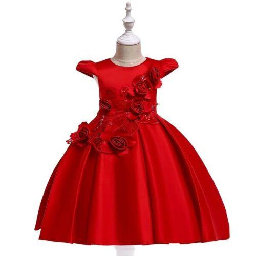 Flower Party Wedding Formal Dresses Girl Dress Kid Tutu Bridesmaid Baby Princess