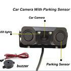 2 LED Car Rear View Reversing Backup Night Vision Camera w/ 2 Parking Sensors