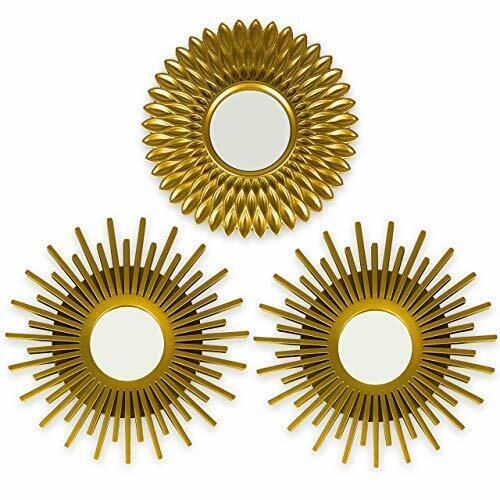 Espejos Pared Decorativos Dorados Pack 3 Espejos Decorativos Ideales para