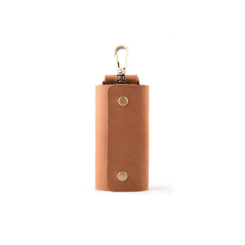 Personalized Leather Key Case Vintage Wallet Men Holder Car Key Ring Chain Gift