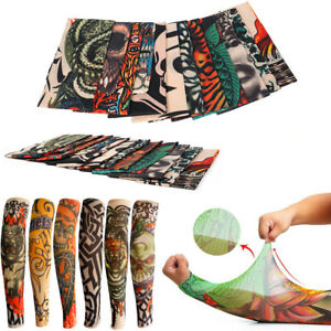 20-Designs-Mens-Women-Fake-Tattoo-Arm-Warmers-Sleeves-Temporary-Tattoo-Sleeve