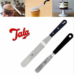 Cake-Decor-Angle-Spatula-Palette-Knife-039-TALA-039-Icing-Spreader-Stainless-Smoother