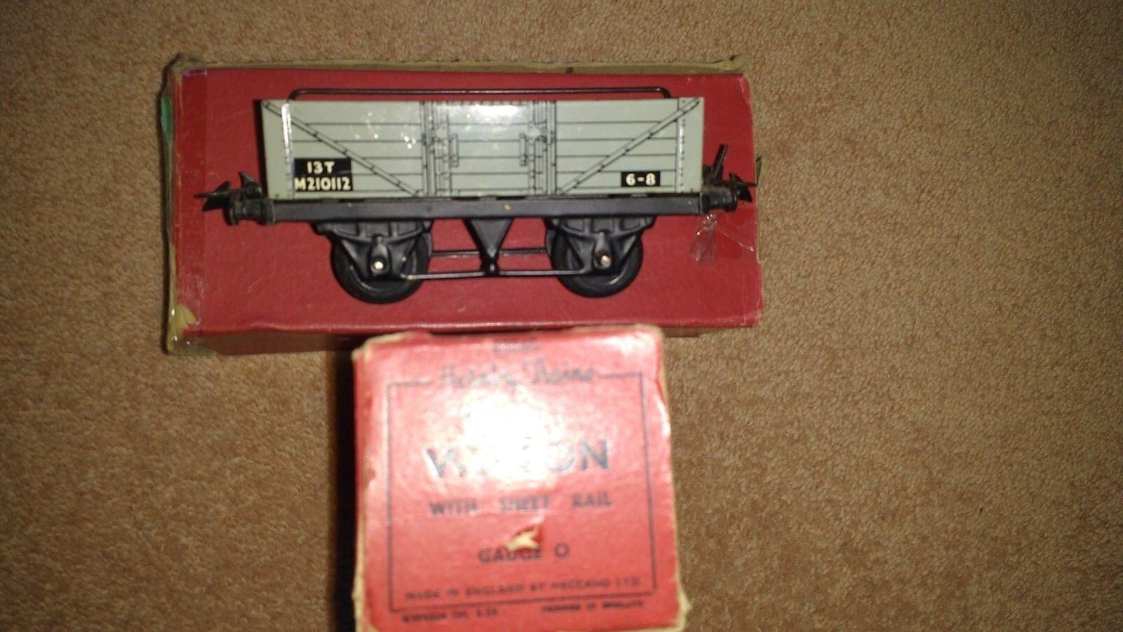 Vintage - hornby o - wagen mit box