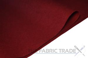 2 mm de espesor Material de la Tela de Fieltro Artesanal Rojo Vino 100/% Acrílico 150 Cm de Ancho