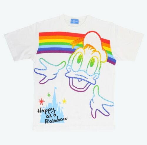 Pré-commande tokyo disney resort Rainbow Character T-shirts Donald