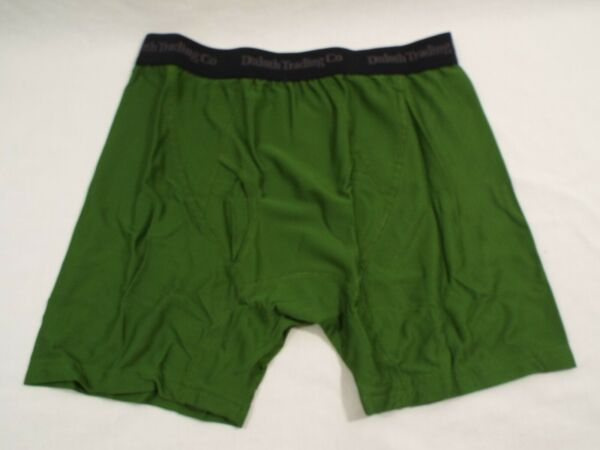 1 Coppia Duluth Trading Co Buck Naked Performance Boxer Slip Boschetto Verde Scelta Materiali