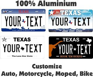Texas 1955 License Plate Personalized Custom Car Auto Bike Motorcycle Moped