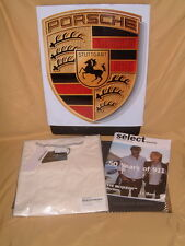 PORSCHE DESIGN DRIVER'S SELECTION 50 YEARS OF 911 IVORY T-SHIRT EURO XL=USA L.