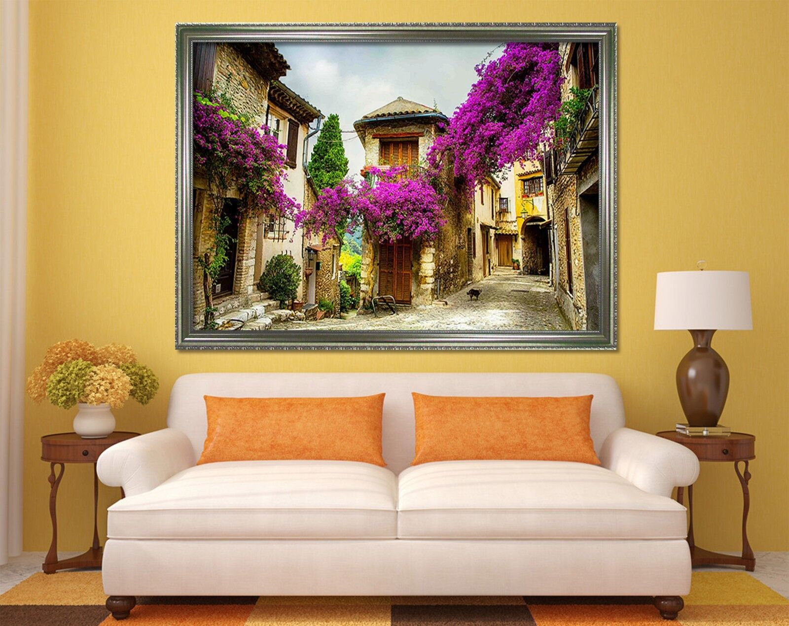3D Ancient Town Alley 2 Framed Poster Home Decor Print Painting Art AJ WALLPAPER