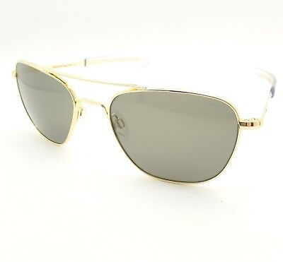 85e6e636c852a RANDOLPH ENGINEERING AVIATOR GOLD BAYONET GREY AF055 55MM NEW USA SUNGLASSES
