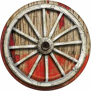 Image is loading Rodeo-Western-Cowboy-Wheel-23cm-Paper-Party-Plates-  sc 1 st  eBay & Rodeo Western Cowboy Wheel 23cm Paper Party Plates 1-48pk | eBay