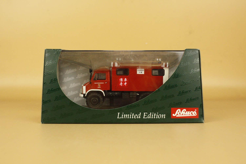 1 43 Mercedes-Benz Unimog 404S Funkkoffer  Feuerwehr  Schuco ( box is damage )