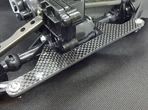 Tamiya Clodbuster carbon 1 piece rear steering lockout plate