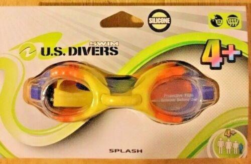 Childrens U.S DIVERS Swim Goggles Silicone Clear Lenses Anti Fog For Kids 4+