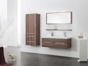 Alta qualità mobile da bagno in legno con lavandino in colata