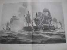 Twas a Trafalgar's Bay nel 1805 da Charles de Lacy 1898 Old print
