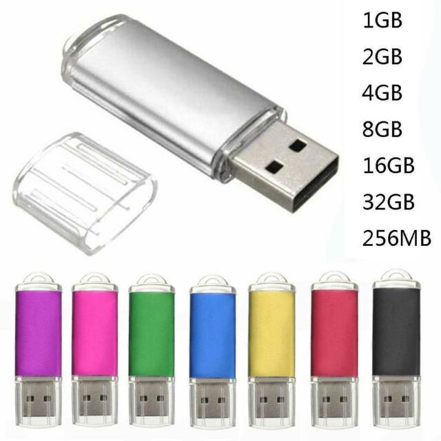 1-32GB 256MB USB 2.0 Drive Memory Stick Multicolor Storage Thumb U-Disk #B