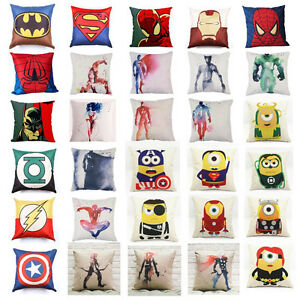 18-034-Super-Hero-Avengers-Cushion-Cover-Marvel-Pillow-Case-JLA-Minions-Sofa-Throw