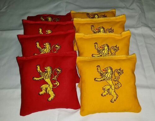 Game of Thrones-Lannister-Embroidered Cornhole Bagg toss Bags set