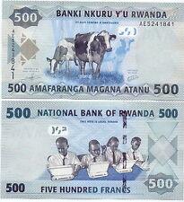 Ruanda / Ruanda - 500 Francos 2013 UNC - Pick 38