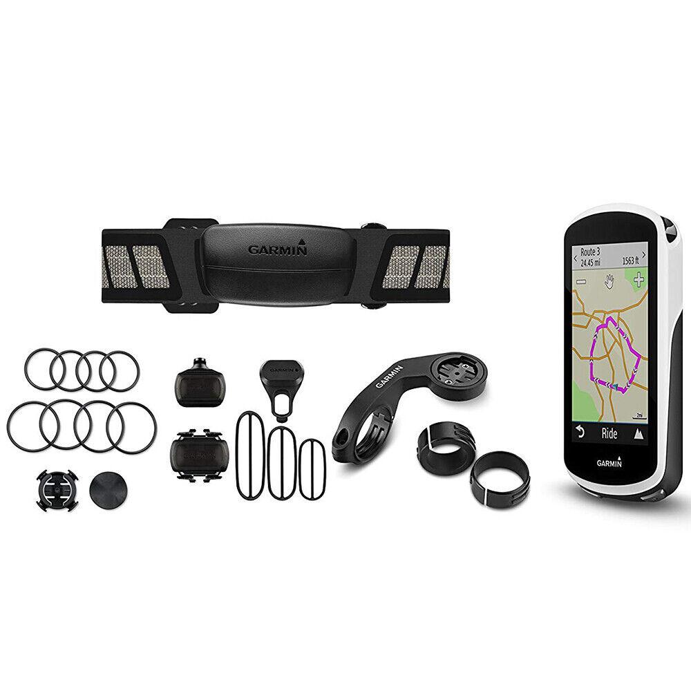 Garmin Edge 1030 GPS Bike Computer Bundle - Chest Strap HRM & Sensors (OPEN BOX)