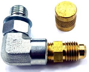 Fuel-Pressure-90-Test-Port-Adapter-Viton-Schrader-Valve-for-Ford-Powerstroke-7