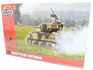 Airfix-M4A3-76-W-Sherman-Battle-Of-The-Bulge-1-35-Plastic-Model-Tank-Kit-A1365
