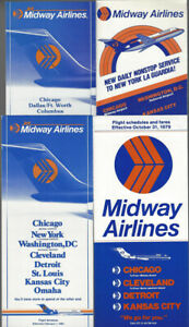 Midway-Airlines-timetable-lot-4-1979-1982