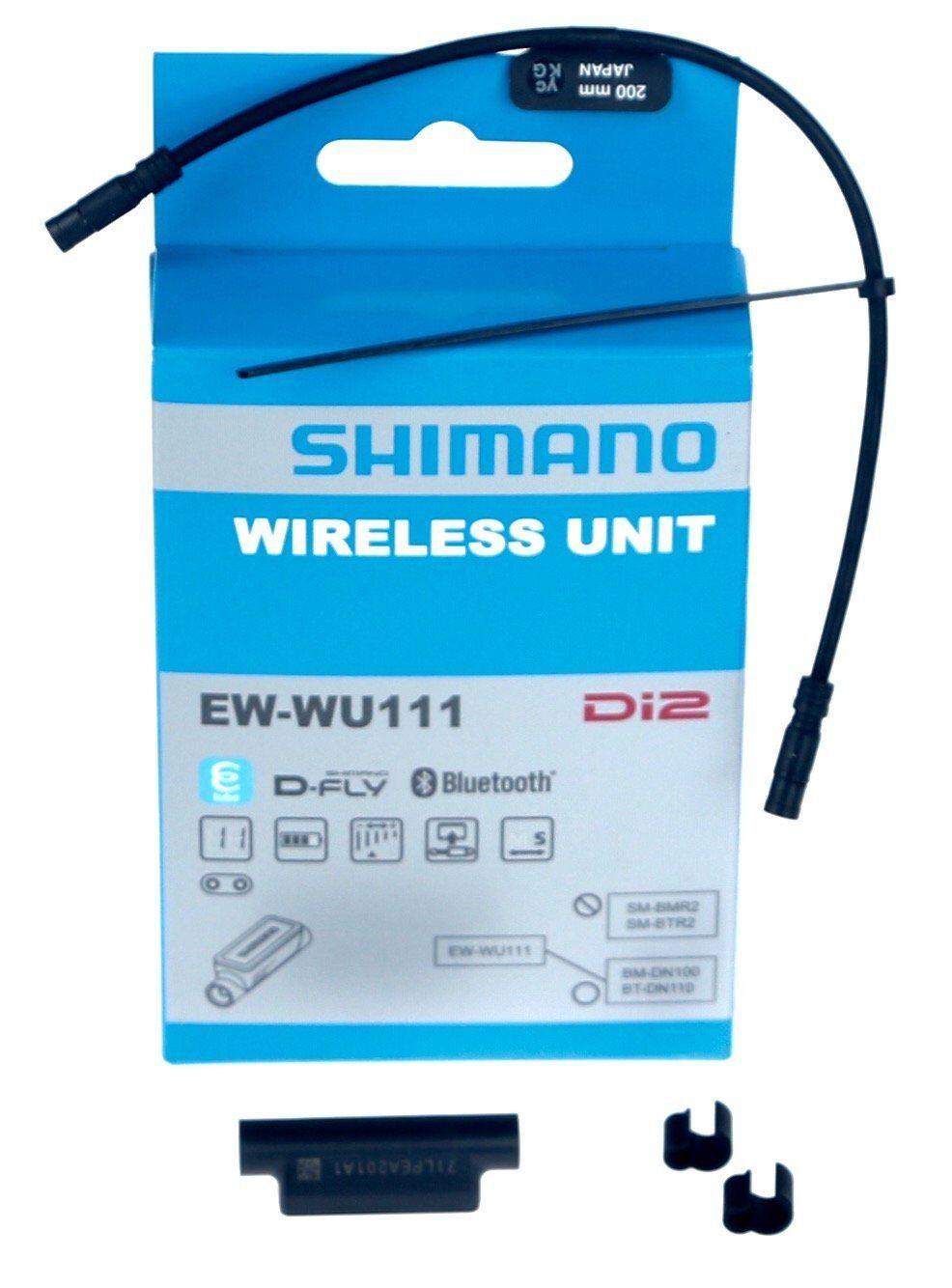 Shimano Shimano Shimano EW-WU111 DI2 D-Fly ANT + Bluetooth Inalámbrico Unidad +200 mm Cable Eléctrico Nuevo en Caja b980cf