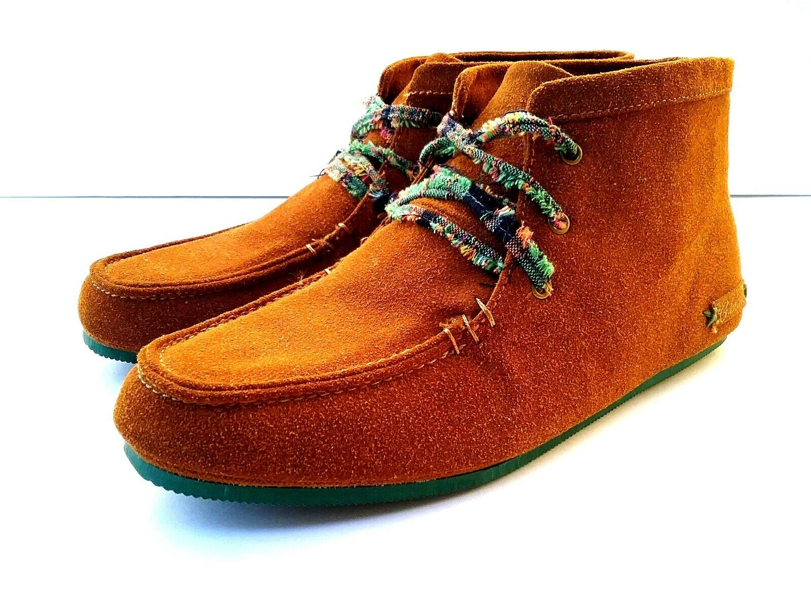 Cobian Willow Women's Chukka Boots Lace Up Suede Brown orange US 7