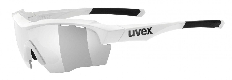 Uvex Sportstyle 104 Sportbrille mit Weiß Wechselscheiben Radsport - Weiß mit a7c87d