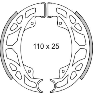 225120350 Ganasce freno posteriori RMS PIAGGIO NRG POWER DT 50 2013 2014 2015