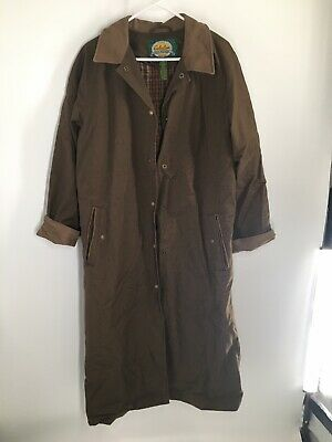 Vintage 1980/'s Canvas Trench With Soft Wool Aztec Lining