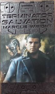 1/6 Hot Toys Mms 100 Salut Terminator Marcus Wright Sam Worthington