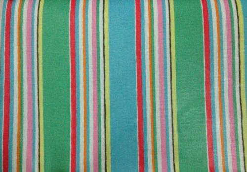 100/% Cotton Duck Fabric Cut By Size Multicolors Stripes Cath Kidston
