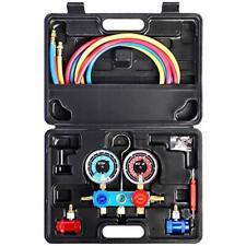 3 Way Ac Manifold Diagnostic Gauge Air Conditioner R1234yf Refrigerant Charging