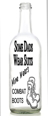 Dad /& Daughter side by side wine bottle Vinyl Decal sticker.