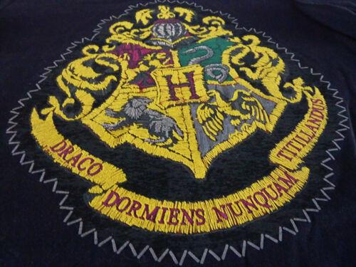 Harry Potter Damen T-Shirt Hogwarts Wappen XS S M L XL Schwarz Kurzarm Primark