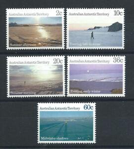 Australie-Territoire-antarctique-N-74-78-MNH-1987-Vues-du-territoire