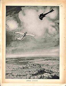 """Combat Aérien Avion Aircraft Morane Aviatik / Map Carte Dixmude-Ypres 1915 WWI - France - Commentaires du vendeur : """"OCCASION"""" - France"""