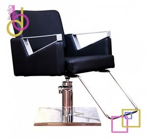 Hydraulic Styling Chair salon & spa- black hydraulic styling chair 360º rotation w