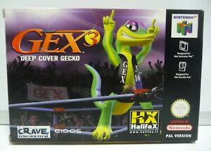 GEX 3 DEEP COVER GECKO - NINTENDO 64  N64 NEW PAL RARE