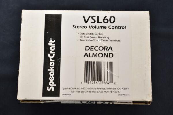 SpeakerCraft VSL60 Black Slide Volume Control 60 watts