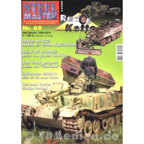 STEELMASTER 60 Rad /& Kette Stryker Spähwagen Ferdinand BRDM-1 Panzer Modellbau