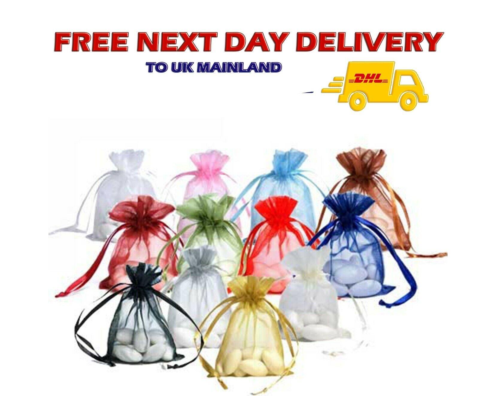 1000 Premium 14cm x 10cm ORGANZA GIFT BAGS Jewellery Pouch Xmas Wedding Favours