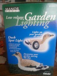 Details About Manor House Low Voltage Garden Lightning Duck Spot Light Lv11081 S