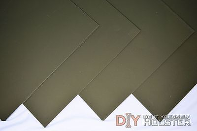 """Kydex T, P1 Finish - Olive Drab - Two 8""""x12"""" .080"""" Thick Sheets"""